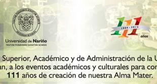 Invitación 111 años Universidad de Nariño2