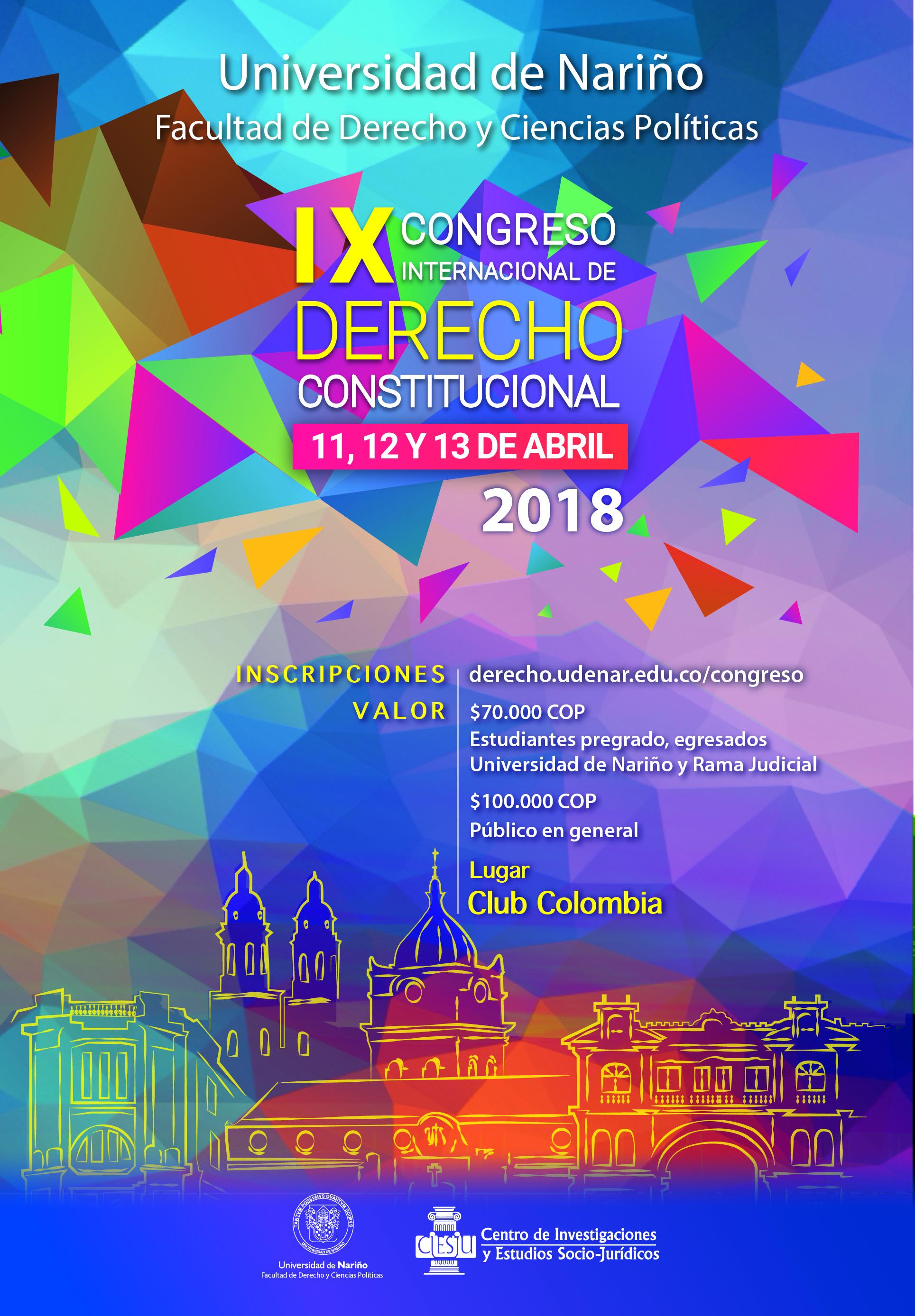 Afiche IX Congreso de Derecho Constitucional
